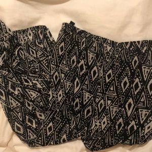 Forever 21 black maxi skirt with tribal detail